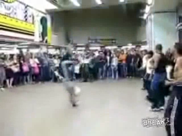Breakdancer Kicks 3 Year Old